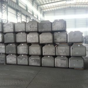 Anodes lying at warehouse